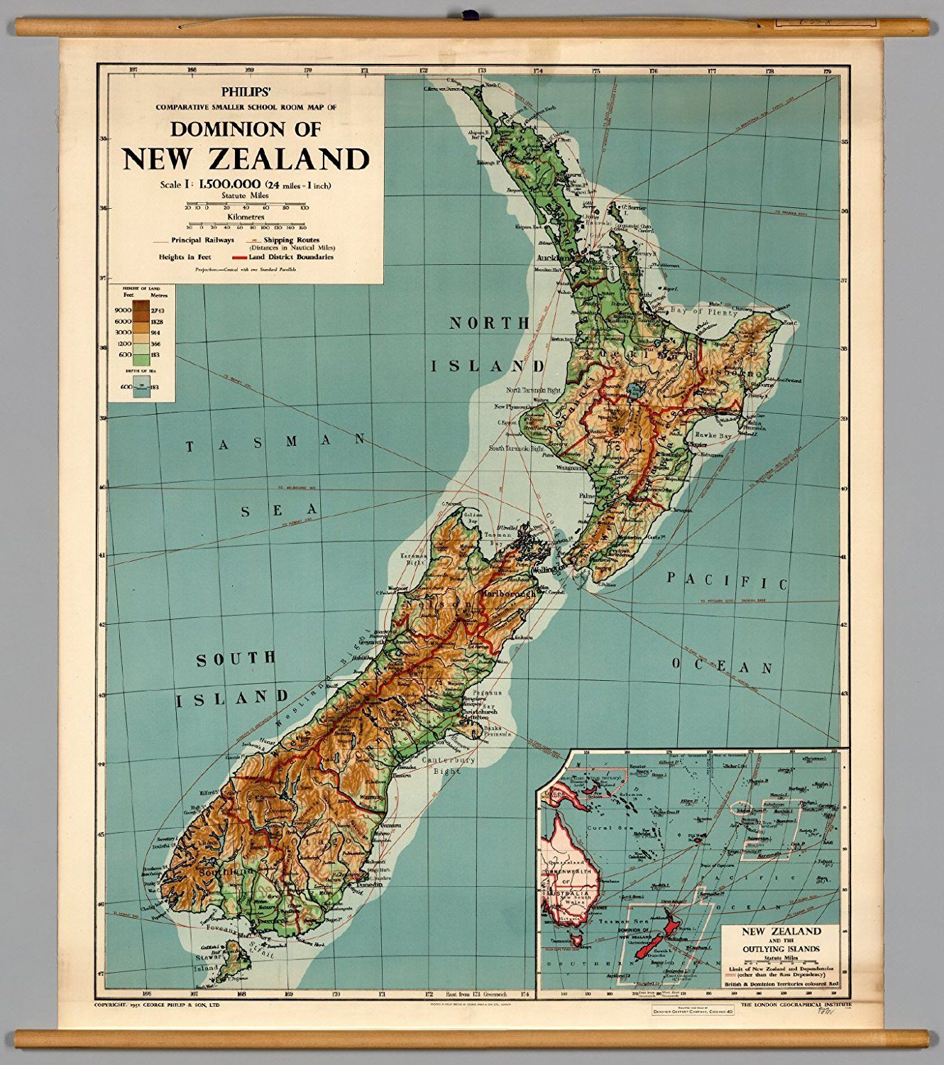 Amazon com: Vintage Travel Poster - Map of New Zealand 24