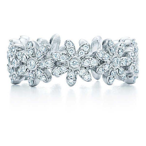 Tiffany Metro Daisy Band Ring 22410 BRL liked on Polyvore