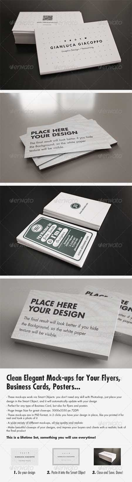 GraphicRiver - Flyer/Business Card Clean Realistic Mockups Set 2 ...