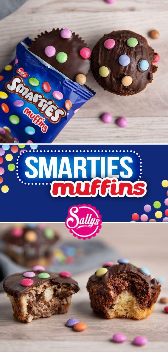 Smarties Muffins selbstgemacht mit Ela / Marmorkuchen Muffins / Original trifft Sally