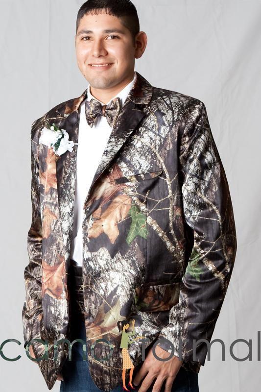 Camo Formal Suit Jacket