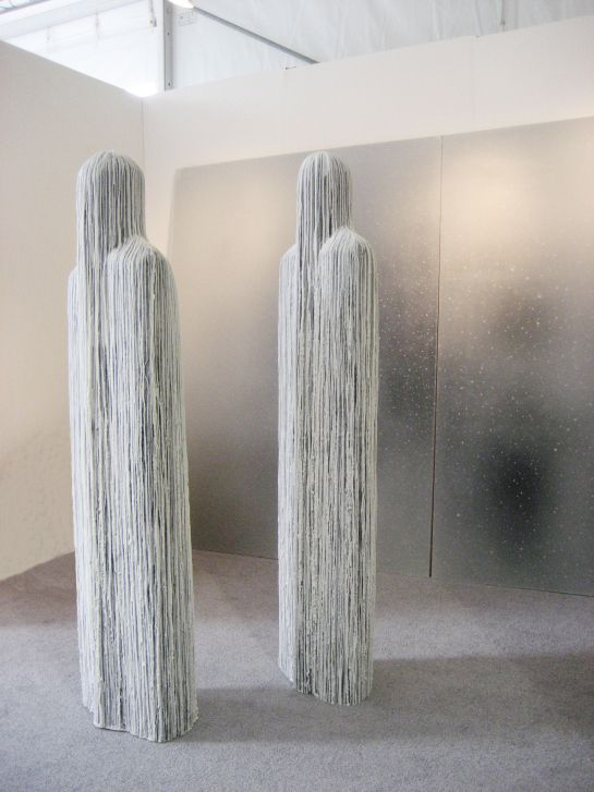 Francesco Sena at Pulse, 2013, with Eduardo Secci Contemporary, Florence, Italy; Mille Rivoli, 2011, wax on polystyrene forms slightly larger than life size. The translation of the title into English is A Thousand Streams.