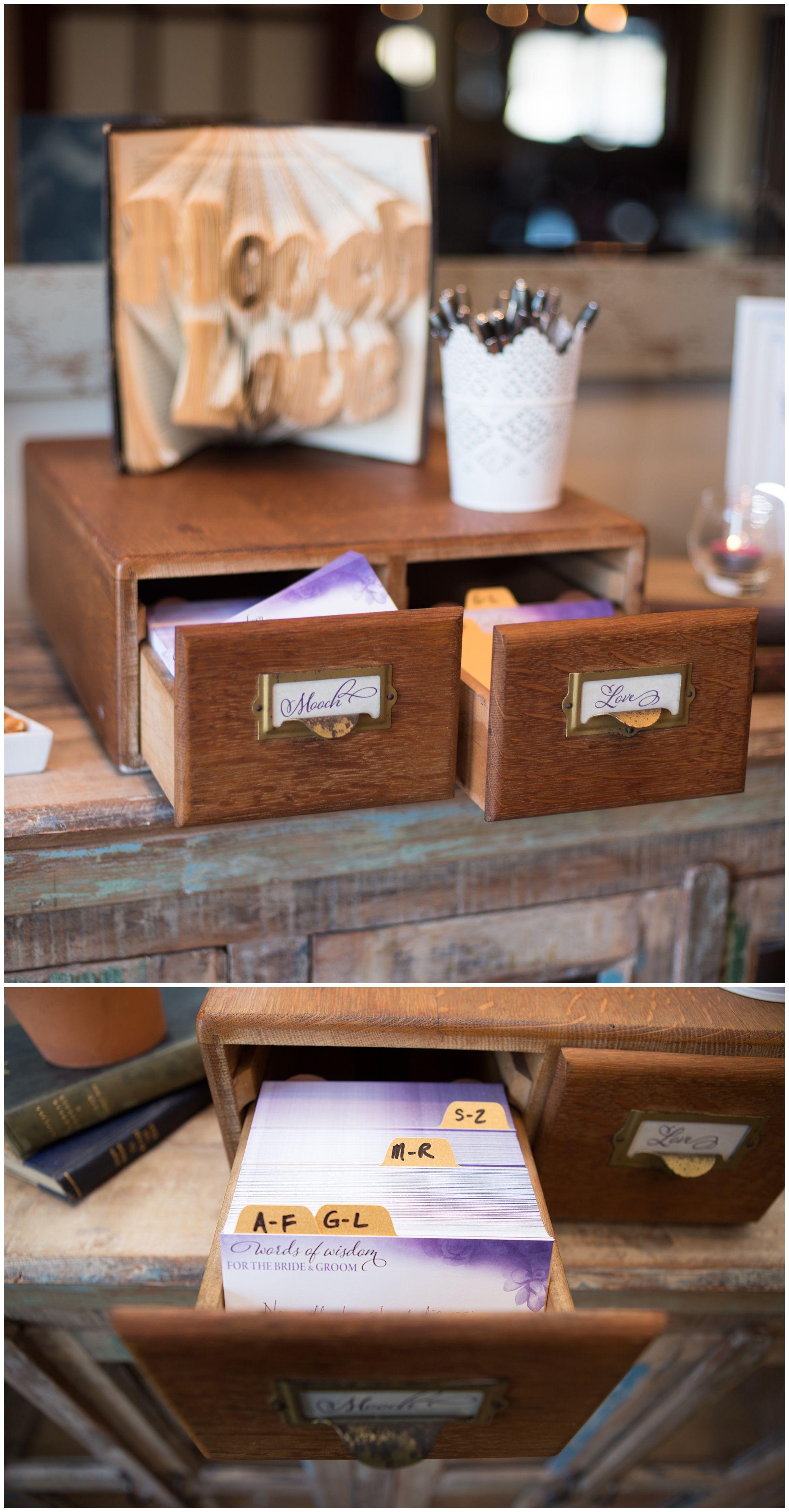 Wedding Guest Book Ideas Alternatives Unique Diy Non Traditional Creative Vintage Library C Creative Guest Book Wedding Guest Book Card Catalog Diy