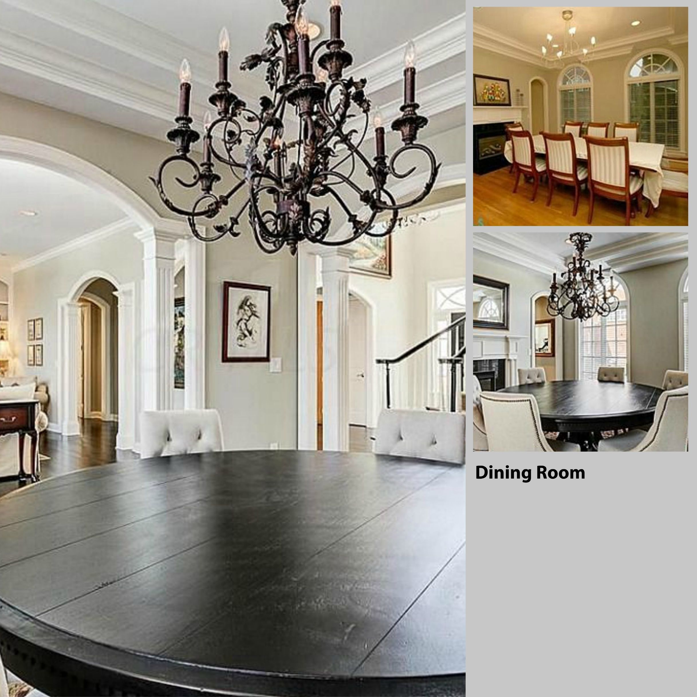 Dining Room -before And After- Restoration Hardware And