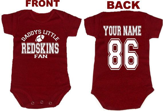 962acc086 daddys mommy redskins baby jersey customized personalized infant shirt  jersey washington gear onesie bodysuit clothes