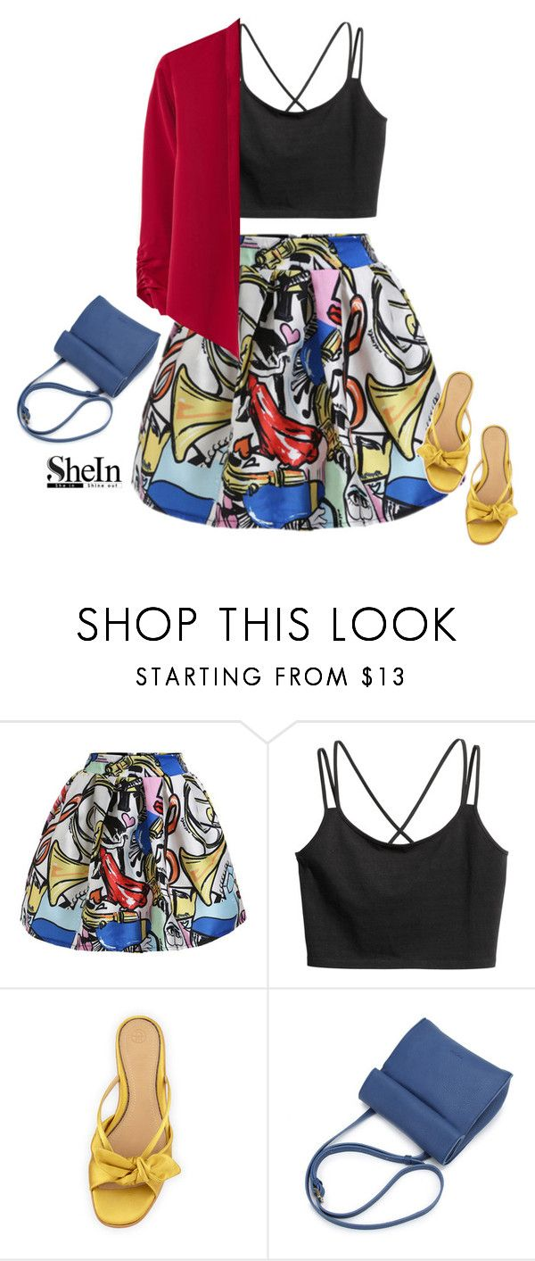 """Shein Skirt"" by tawnee-tnt ❤ liked on Polyvore featuring The Row and MANGO"