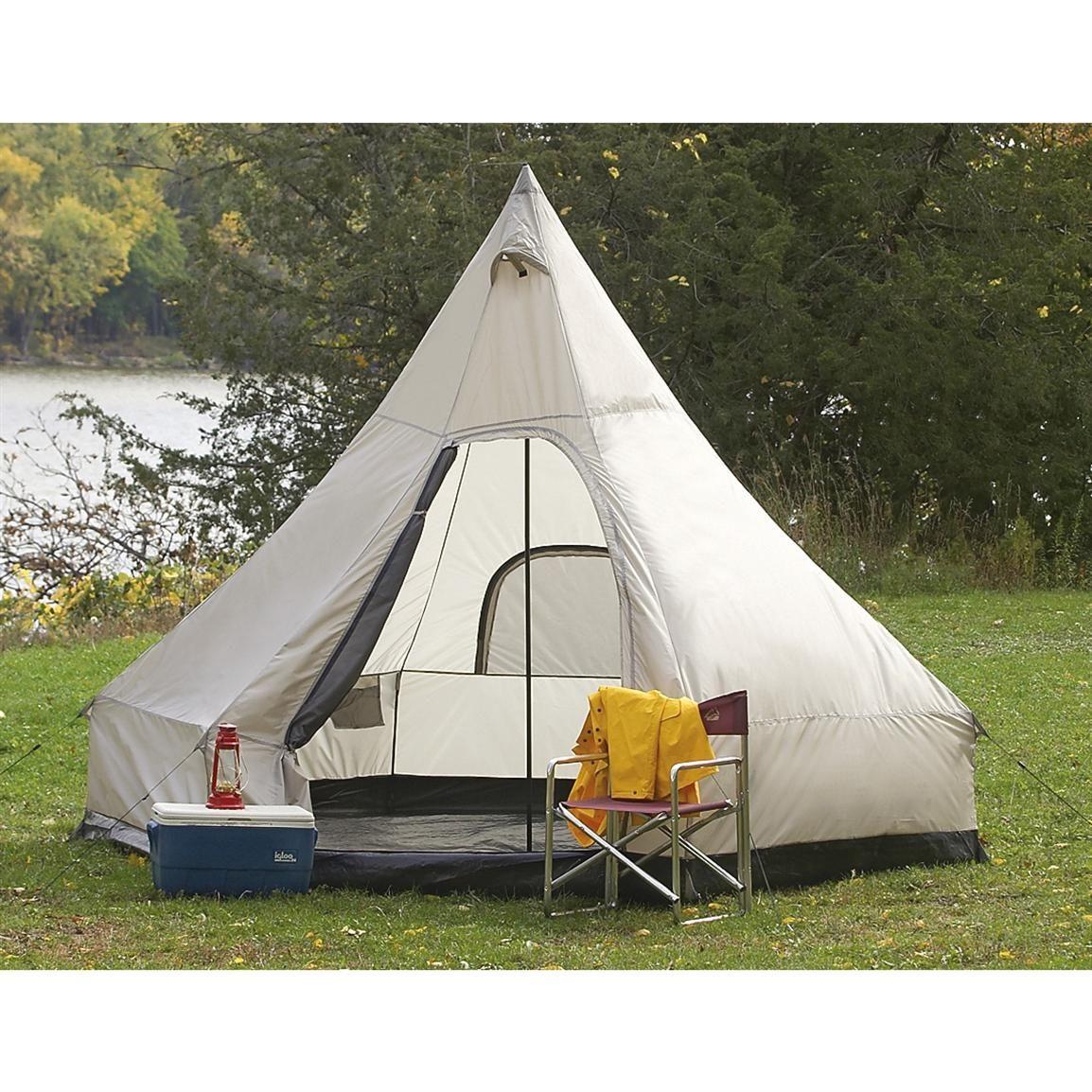 Guide Gear® Single - pole Wigwam Tent  sc 1 st  Pinterest & Guide Gear® Single - pole Wigwam Tent | Tents and Cabin tent