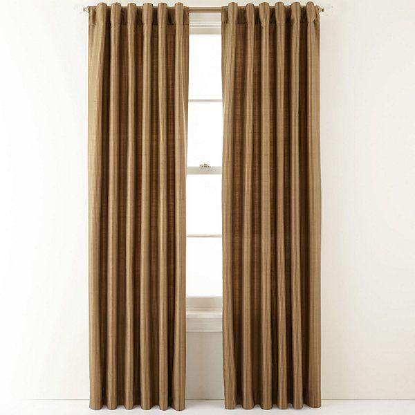 Royal Velvet Silk Pinstripe Back Tab Curtain Panel Jcpenney