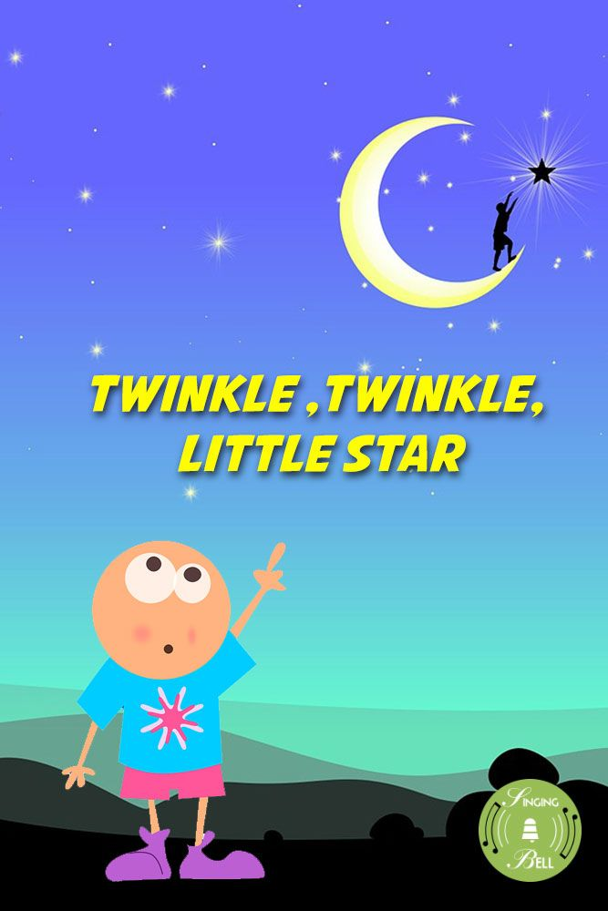Twinkle, Twinkle, Little Star | Childrens songs, Little star, Music for kids