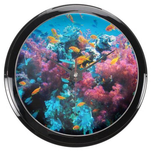 Underwater 15 Aqua Clock & Numeral Options