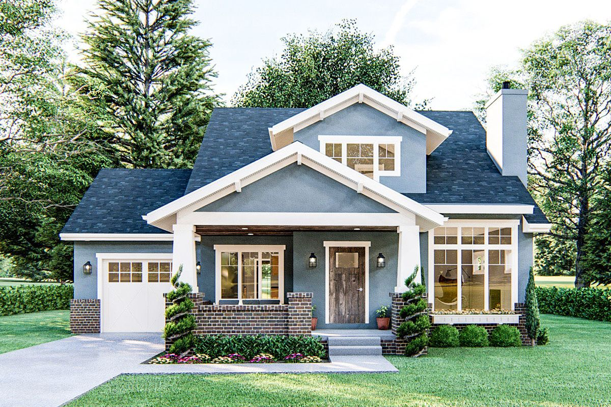 Photo of Plan 62817DJ: 3-Bed Cottage Home Plan with Great Curb Appeal
