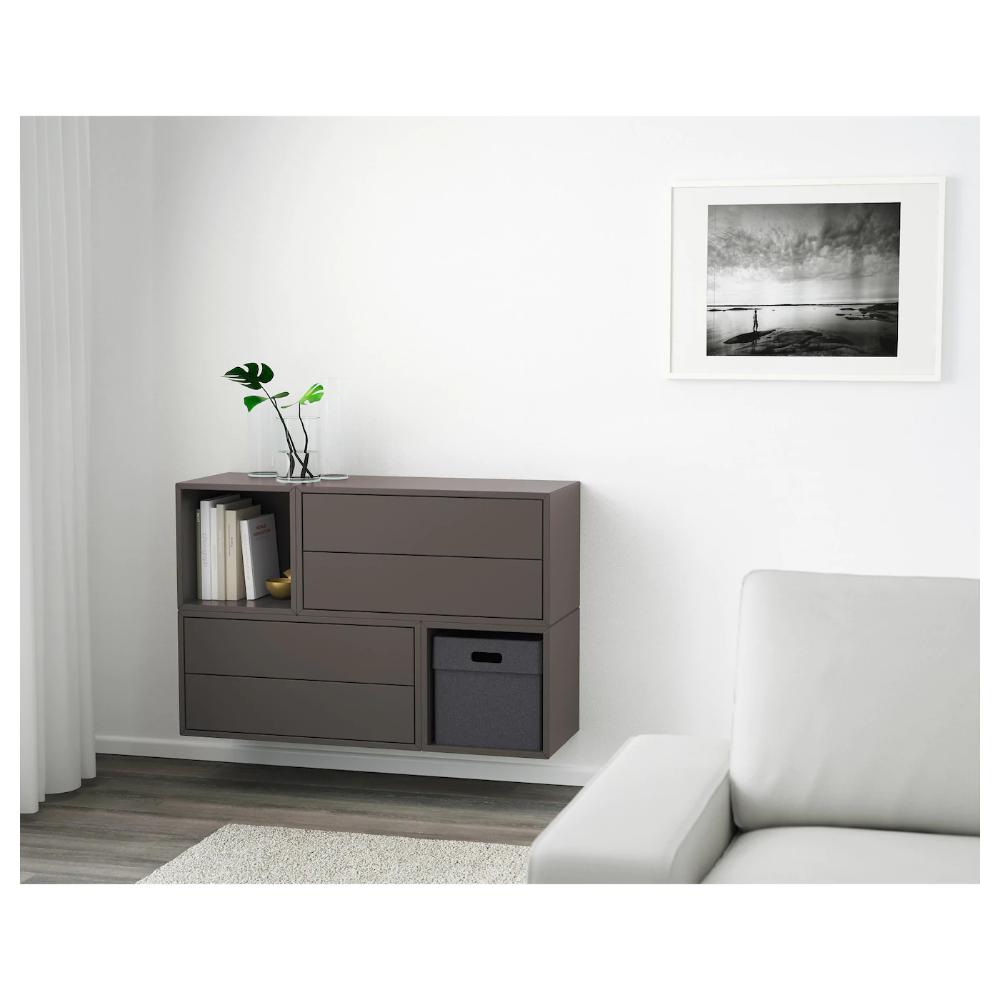 Eket Wall Mounted Cabinet Combination Dark Gray 41 3 8x13 3 4x27