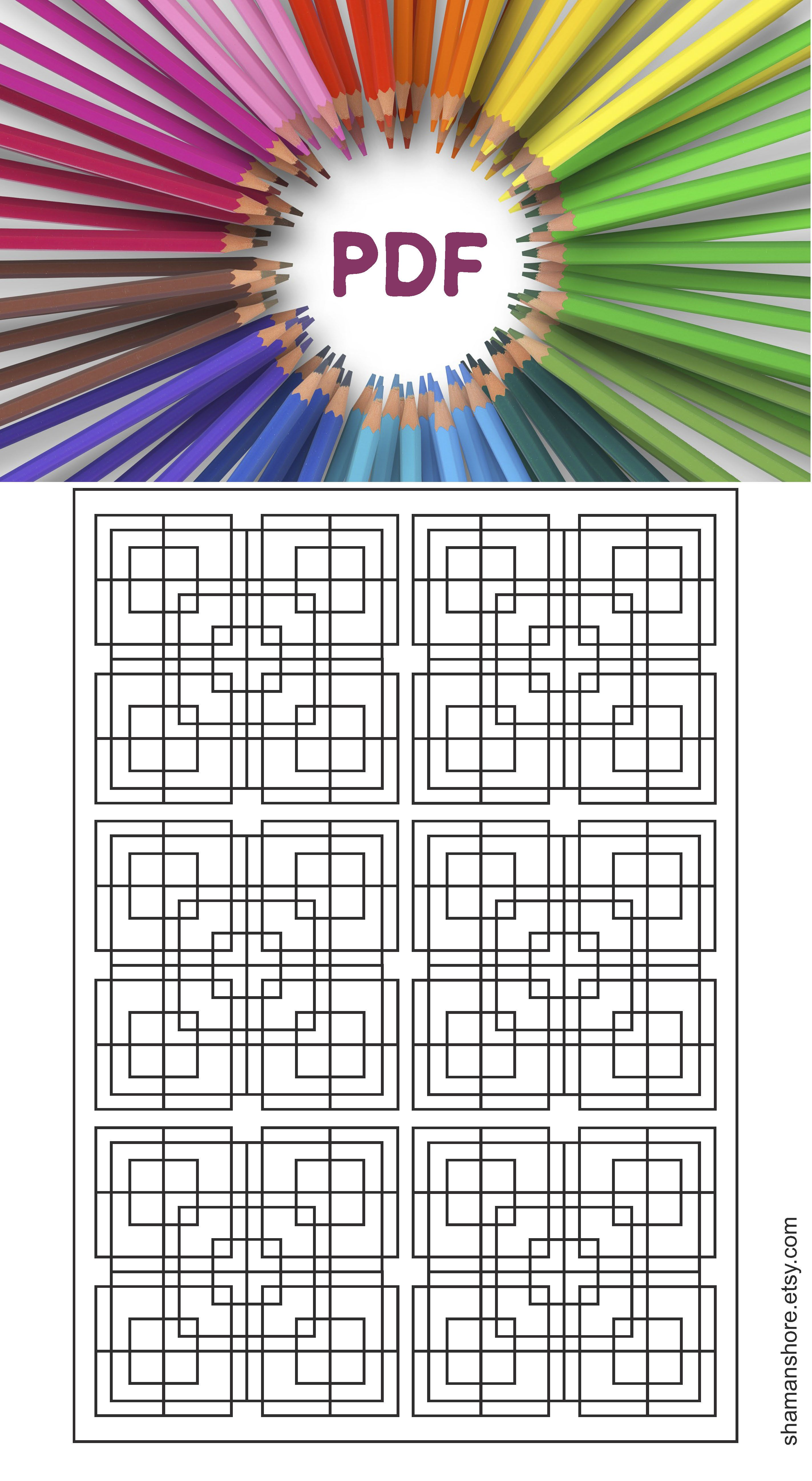 Adult Coloring Book 15 Adult Coloring Pages Printable Adult