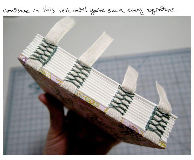Bookarts: Exposed Tape Binding (Tutorial!)  great tutorial! <3