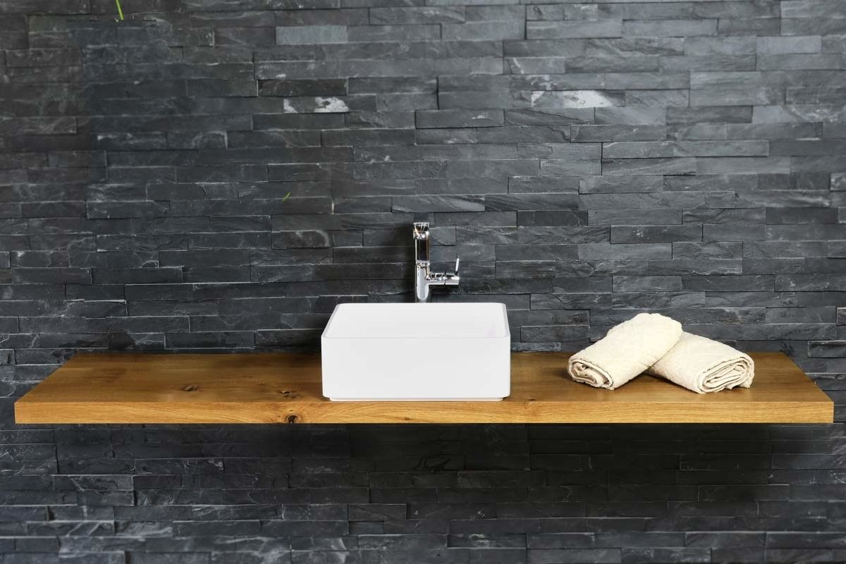 waschtisch holz auf ma eiche massiv 3 4cm in 2019. Black Bedroom Furniture Sets. Home Design Ideas