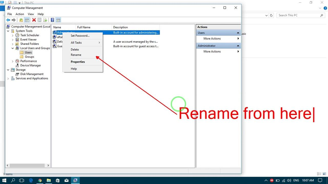 How To Rename Administrator Account In Windows 10 Administration