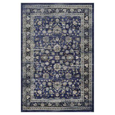Couristan Zahara Floral Ferahan Indoor Area Rug Navy/Creme - 18670898311053T