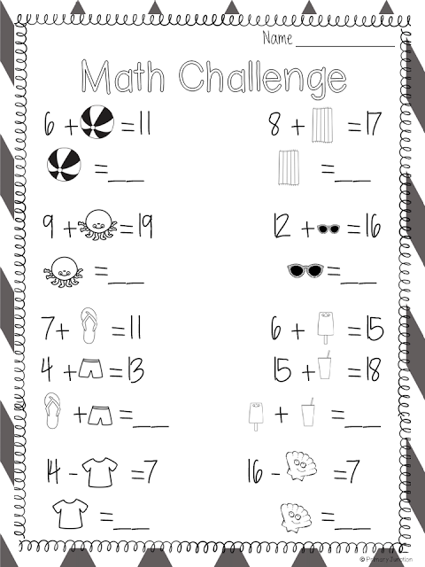 Math Challenge Primary Junction Spring Math Worksheets Math Worksheet Math Worksheets