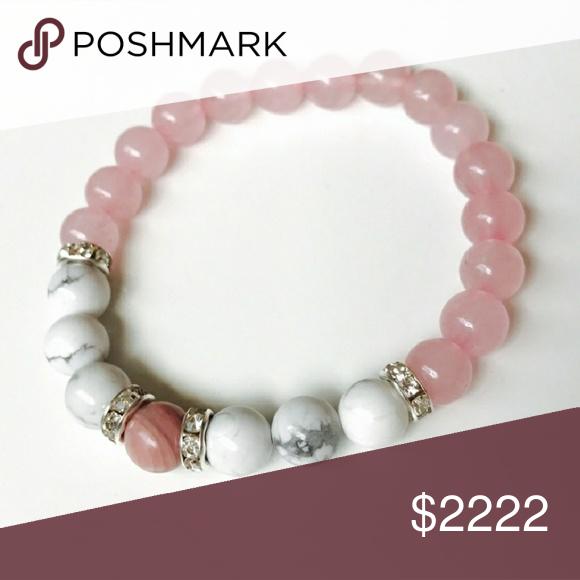 HP Rose quartz with howlite bracelet Boutique Rose quartz