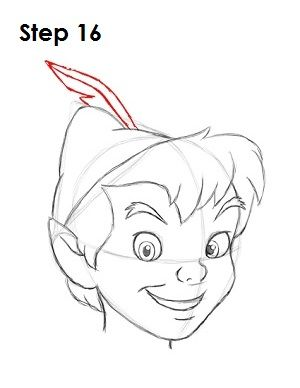 How to draw peter pan step 16 dessin apprendre - Apprendre a dessiner disney ...