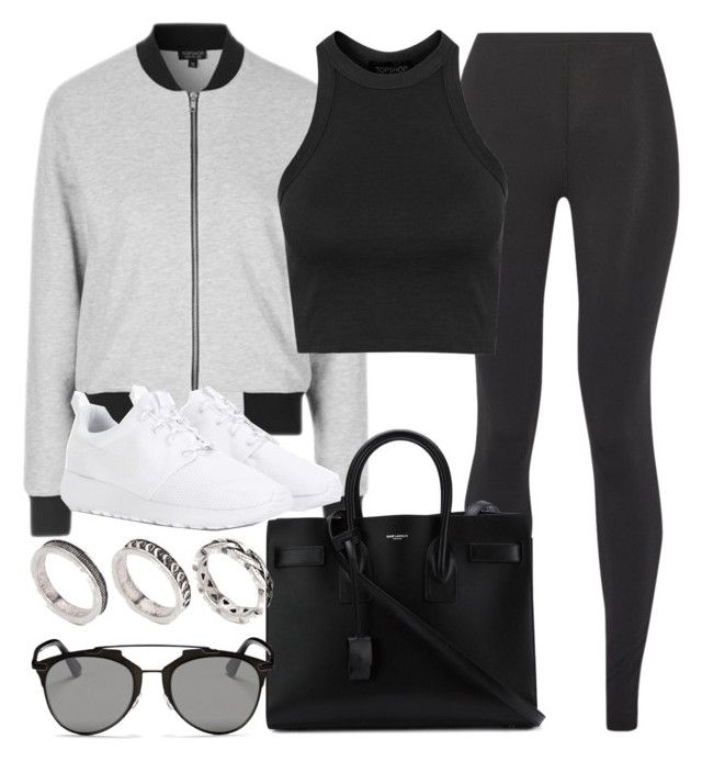 """Style #10891"" by vany-alvarado ❤ liked on Polyvore featuring Live The Process, Topshop, NIKE, Yves Saint Laurent, Christian Dior and ASOS"
