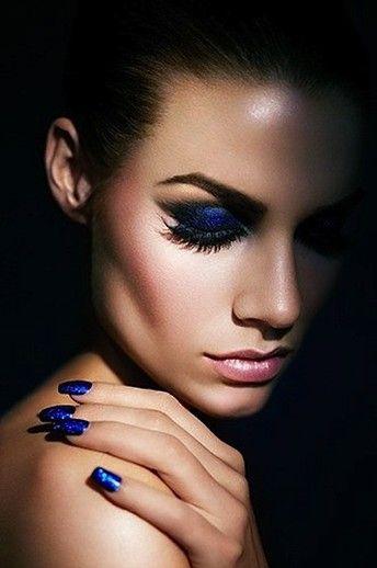 Cobalt blue shadow