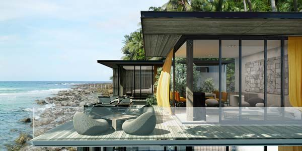 oceanfront homes   Thailand properties for sale modern beachfront ...