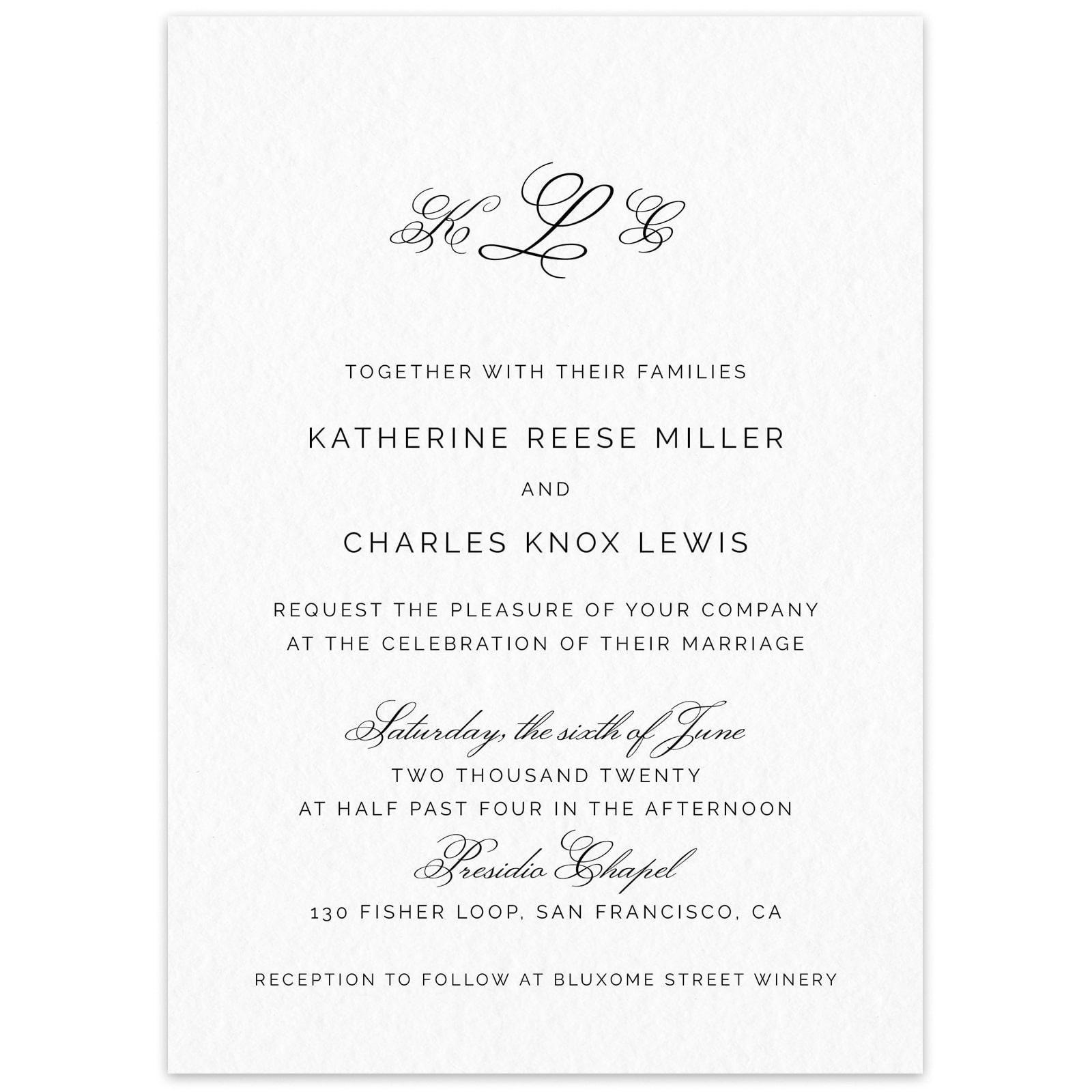 Wedding Venues Near Me Cheap: Wedding Invitation