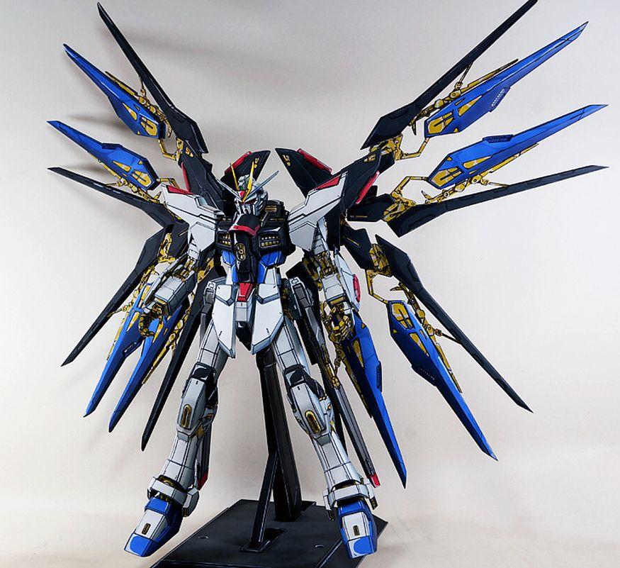 Pg 1 60 Strike Freedom Gundam Anime Style Painted Build Gundam Anime Style Anime