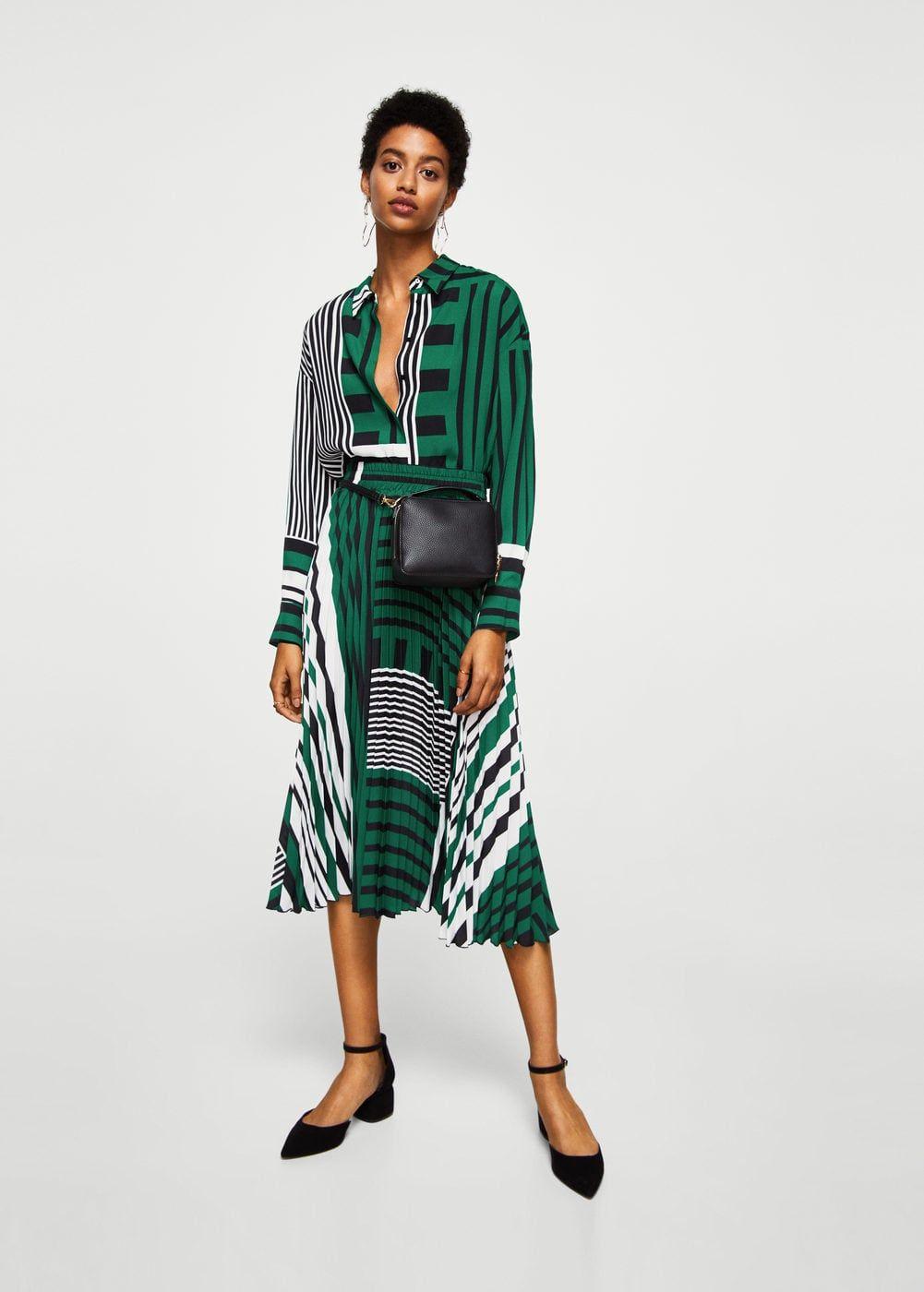 7234eefc1d Falda plisada estampada - Mujer