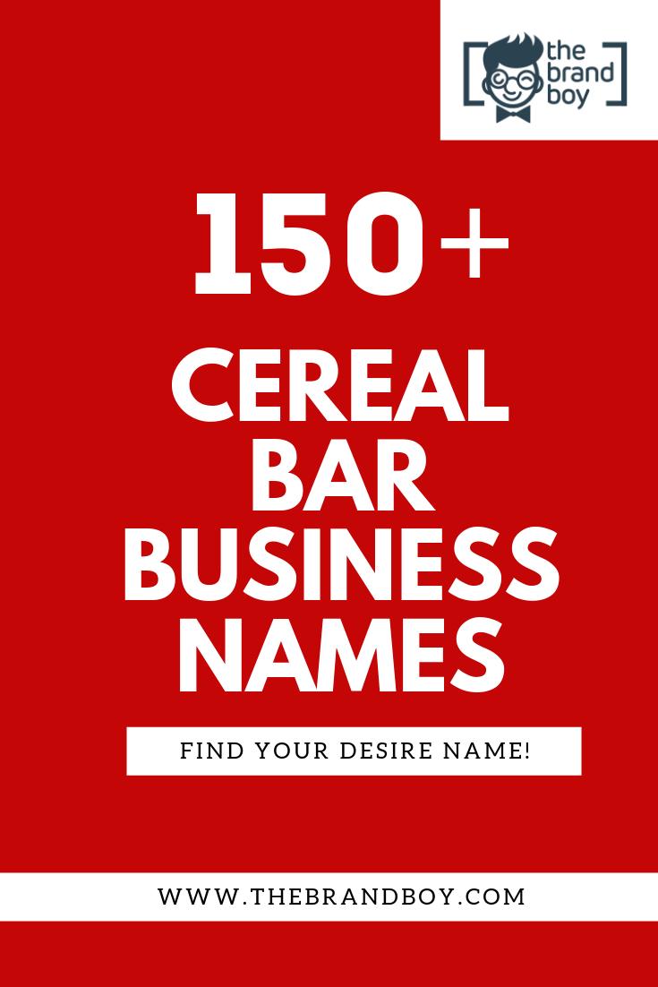 350  best cereal bar company names  u0026 ideas   video