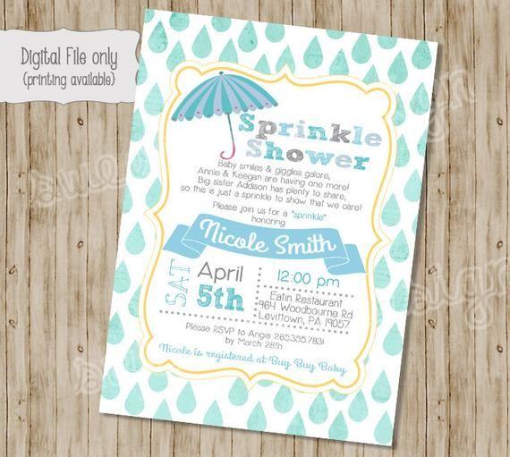 Baby Boy Shower Invitation Sprinkle