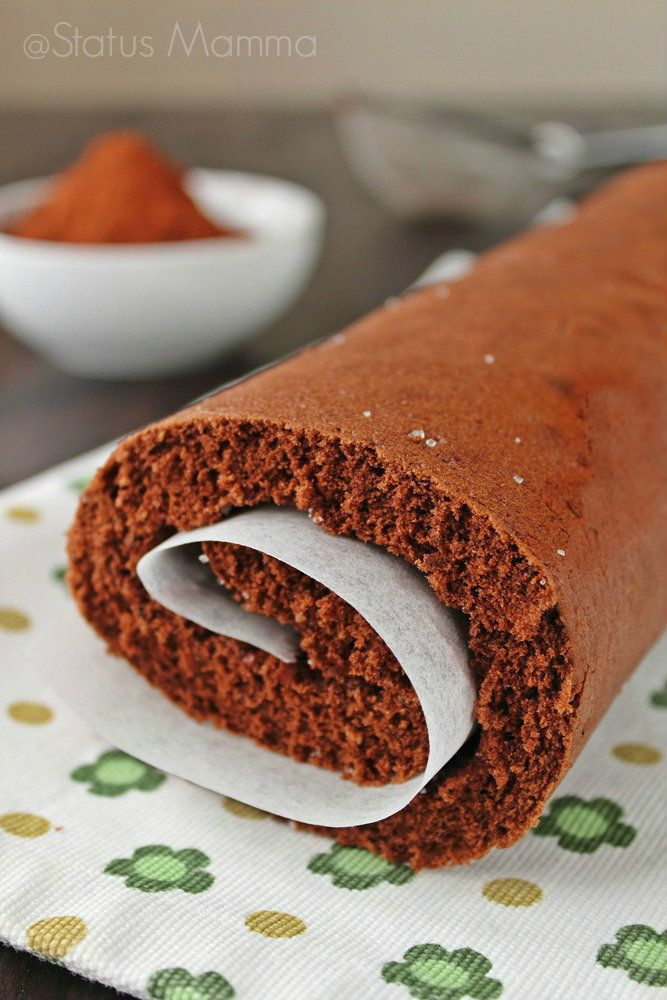 Dopo il classico Rotolo, pasta biscotto a base solo di farina e uova eccovi una versione semplice e veloce al cacao