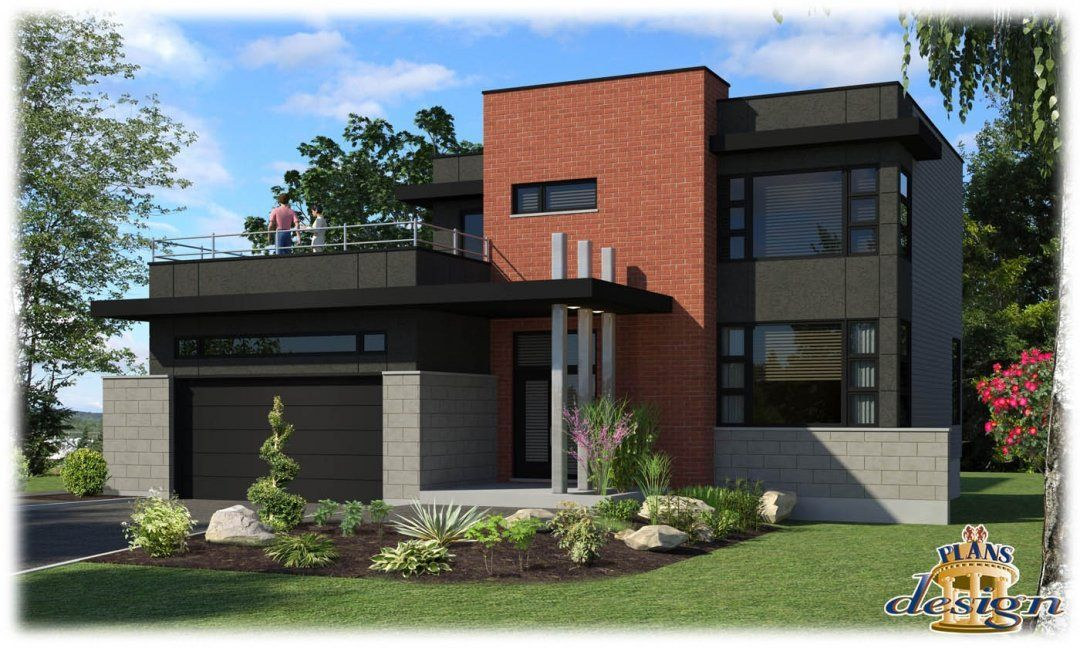 Modele Maison Moderne Plain Pied