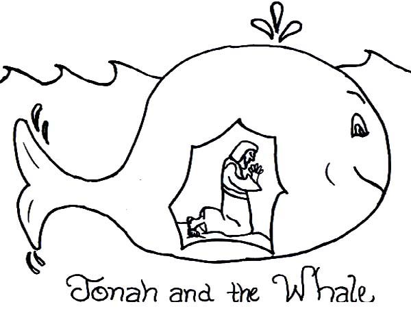 Story of Jonah and the Whale Coloring Page يونس عليه