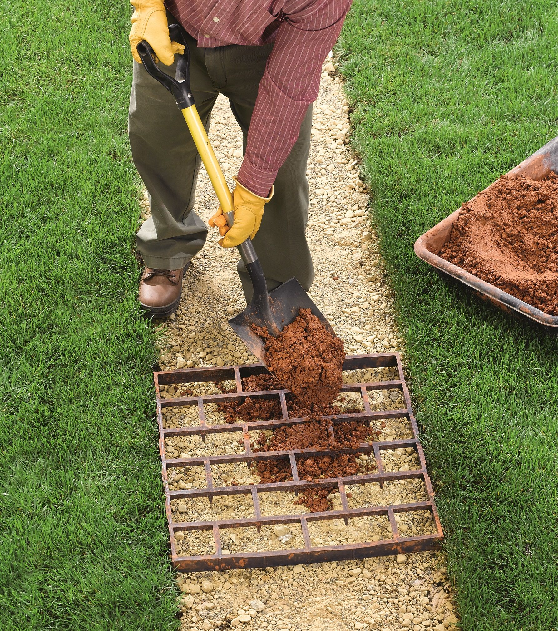 How to build a walkway with quikrete walkmaker filling