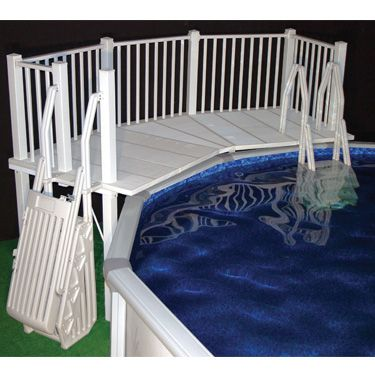 Resin Fan Deck For Above Ground Pools Above Ground Pool
