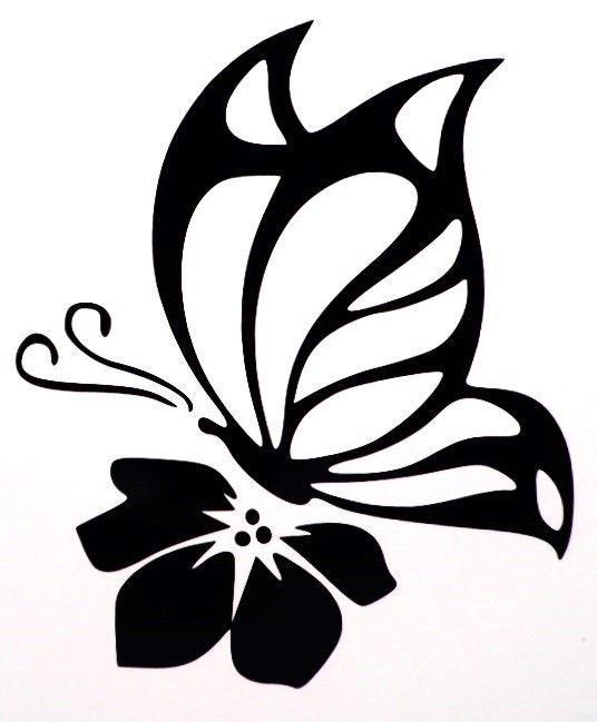 Butterfly Flower Sexy Girly Car Truck Window Vinyl Decal Sticker 10