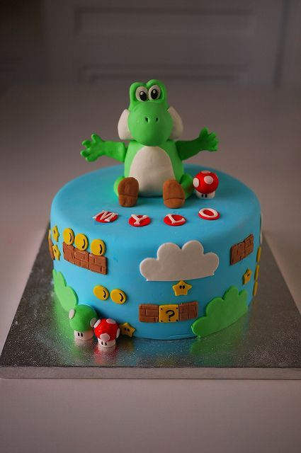 Yoshi Cake by Oooh My Cake! (happy day), via Flickr