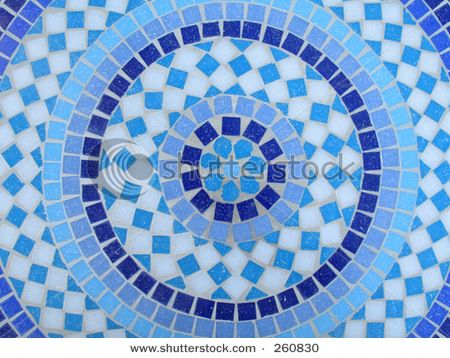 round mosaic tile pattern | Mosaic Designs and Inspiration | Pinterest