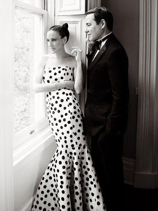 Sarah Jessica Parker Matthew Broderick Wedding Dress Sarah Flamenco Dress Black And White Gown Sarah Jessica Parker