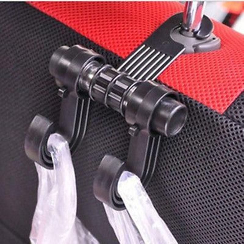 Double Auto Car Back Seat Headrest Hanger Holder Hooks Clips For Bag Purse