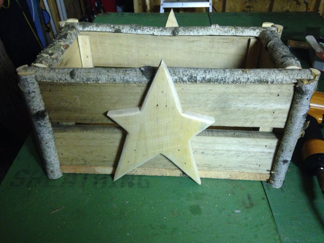 Rustic bread box. DIY pallets, birch, and plywood ...