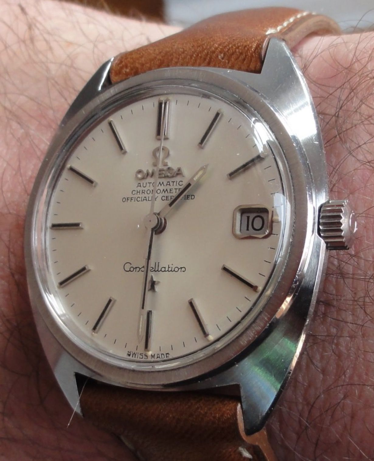 Vintage OMEGA Constellation C-Case Chronometer In Stainless Steel ...