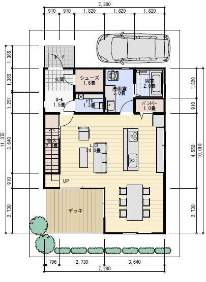 35坪 吹き抜けのある間取り 理想の間取り 間取り 住宅設計プラン