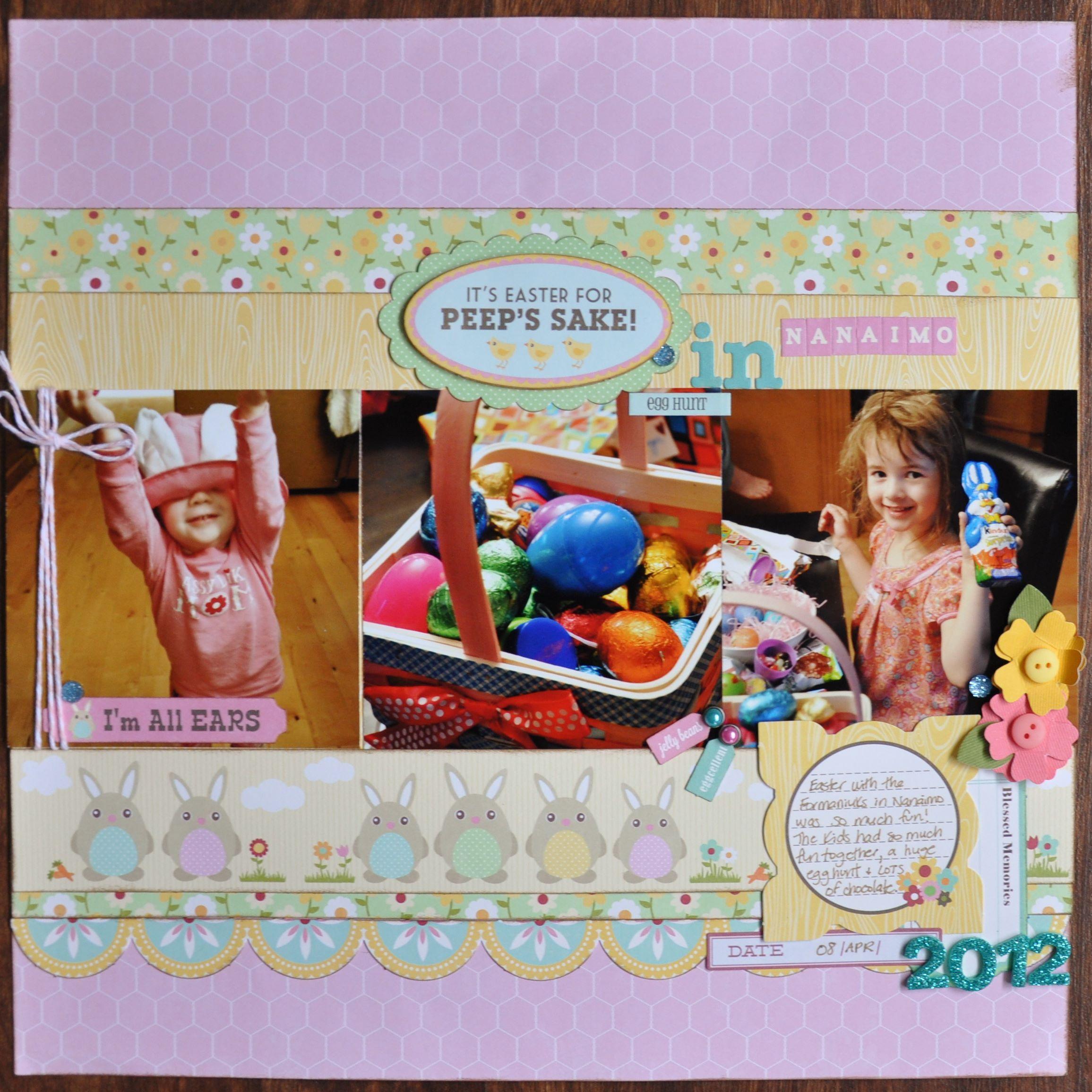 Scrapbook ideas easter - It S Easter For Peeps Sake Scrapbook Com