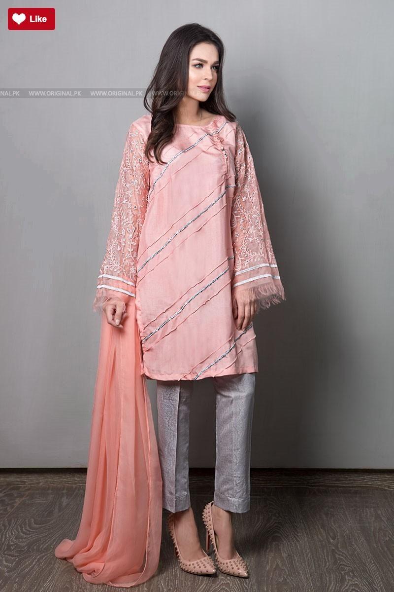 Maria B Suit Peach SF-1576 Evening Wear