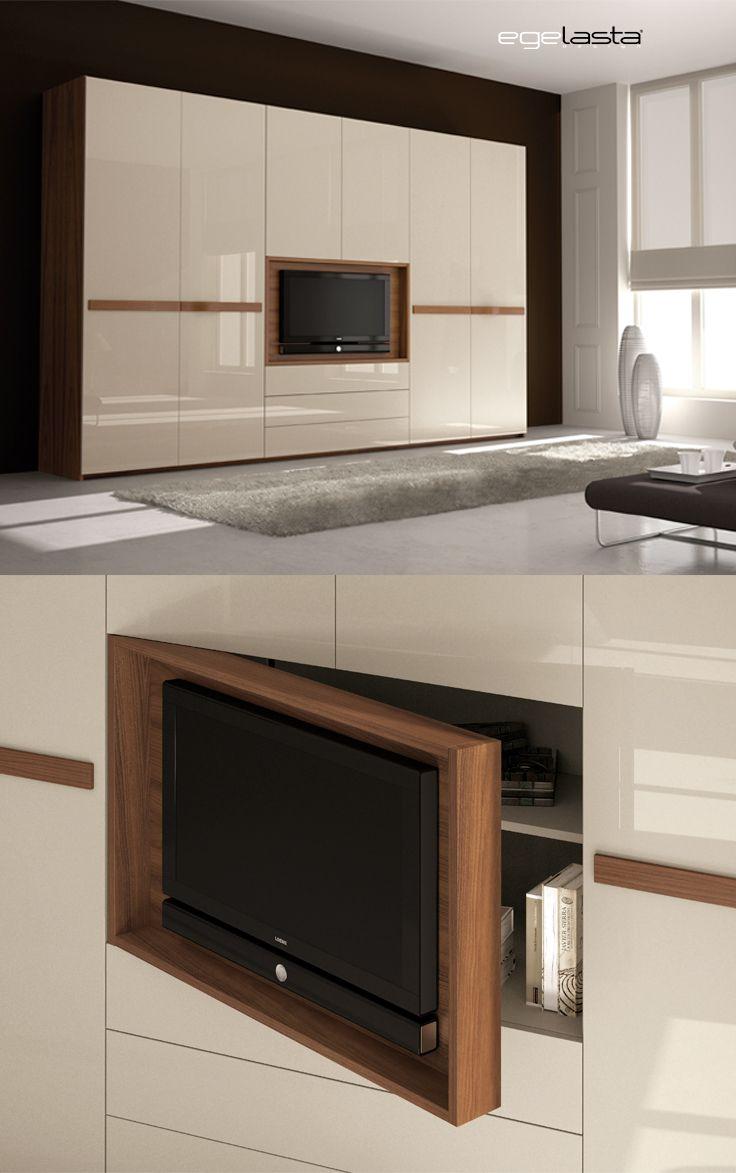 Egelasta open onda 213 mueble moderno tv puertas - Nogal americano muebles ...