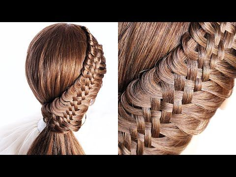 loop easy braid ponytail 😍 perfect for long medium