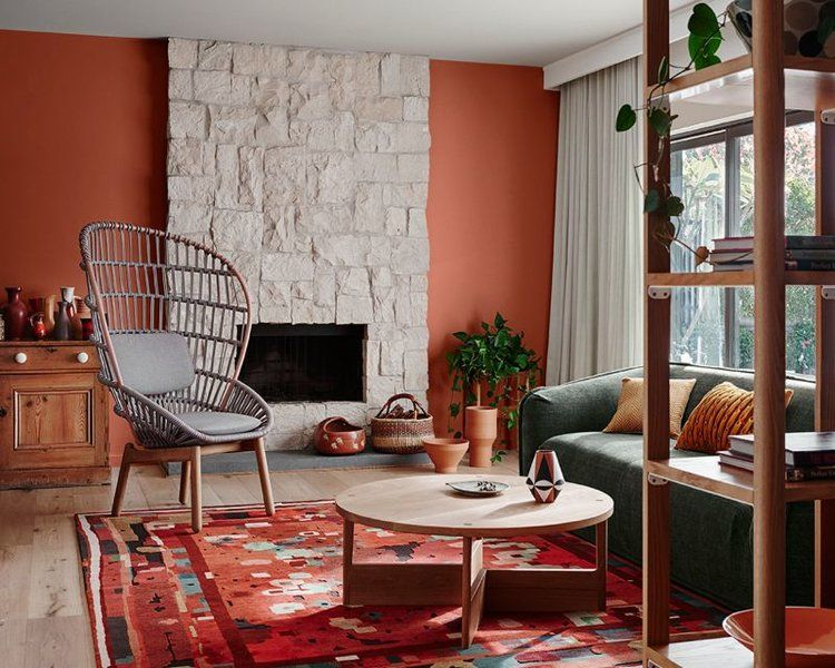 Kleurtrend Roze Interieur : Terre roza muur kleurtrend ᴵᴺ color trends in